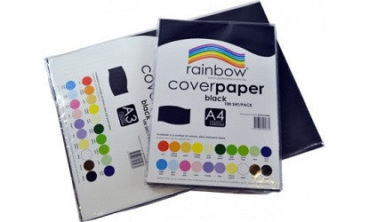 Cover Paper A3 125gsm Pack of 100 Single Colours - Collins Craft and School Supplies