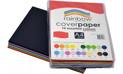 Cover Paper A4 125gsm Pack of 250 Assorted Colours - 700011 - Collins Craft and School Supplies
