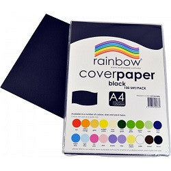 Cover Paper A4 125gsm Pack of 100 Single Colours - Collins Craft and School Supplies