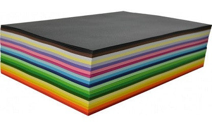 Cover Paper A4 125gsm Pack of 500 Assorted Colours - 700010 - Collins Craft and School Supplies