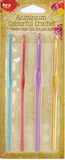 Aluminium Colourful Crochet Hooks Set of 4 -