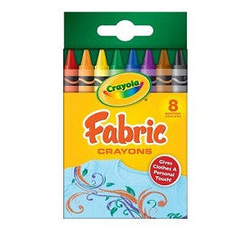 Fabric Crayons Pack of 8 - 52-5009 - Collins Craft and School Supplies