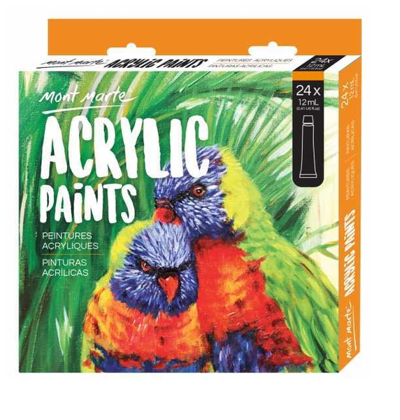 Mont Marte Acrylic Paint Set 24 Piece