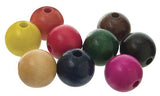 Wooden Beads Assorted Colours Pack of 100 - Collins Craft and School Supplies