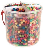 Plastic Beads Pack of 655g - BG3040 - Collins Craft and School Supplies