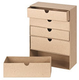 Papier Mache 5 Drawer Box - BW895 - Collins Craft and School Supplies