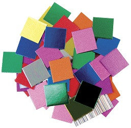 Cardboard Mosiac Squares Metallic Pack of 5000 - CB836 - Collins Craft and School Supplies