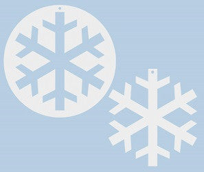Cardboard Large Snowflakes Pack of 10 - Collins Craft and School Supplies