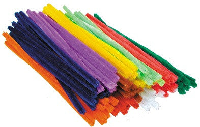 Chenille Stems Giant Pack of 100 - CH053-AS - Collins Craft and School Supplies