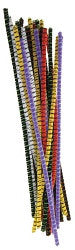 Chenille Stems Striped Pack of 100 - CH070 - Collins Craft and School Supplies