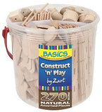 Wooden Construct 'n' Play Tub of 270 - Collins Craft and School Supplies