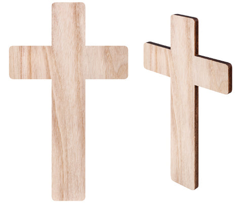 Wooden Cross Pack of 5 - CN521 - Collins Craft and School Supplies