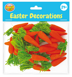 Easter Carrot Decorations Pack of 24 - CR0655