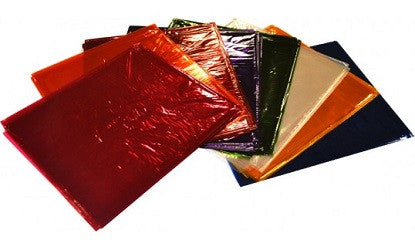 Cellophane Paper Assorted Colours Pack of 25 - 202731 - Collins Craft and School Supplies