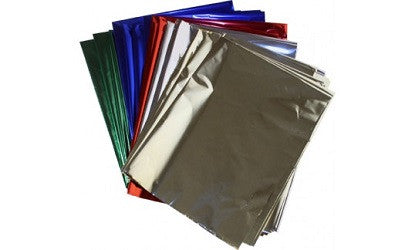 Cellophane Paper Metallic Assorted Colours Pack of 25 - 100682 - Collins Craft and School Supplies