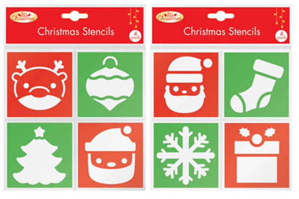 Christmas Stencils Pack of 4 Set of 2 - XM0422