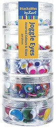 Stackable Joggle Eyes Coloured Pack of 450 - 500001 - Collins Craft and School Supplies