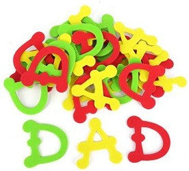 Foam 'Dad' Letters Pack of 30 - FAL0869 - Collins Craft and School Supplies