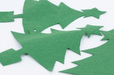 Felt Shapes Christmas Tree Pack of 50 - FES1279 - Collins Craft and School Supplies