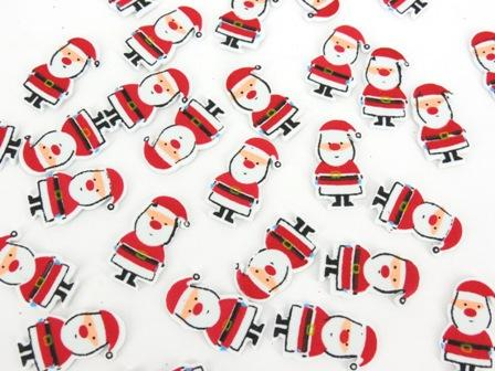 Foam Stickers Santa Printed Pack of 75 - FSX9564 - Collins Craft and School Supplies