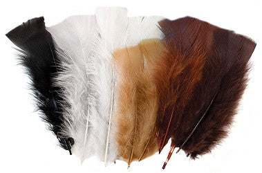 Feathers Pack of 60g Natural - FT102-NA - Collins Craft and School Supplies