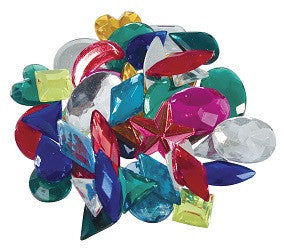 Jewels Assorted Colours and Shapes Pack of 15g - JW100 - Collins Craft and School Supplies