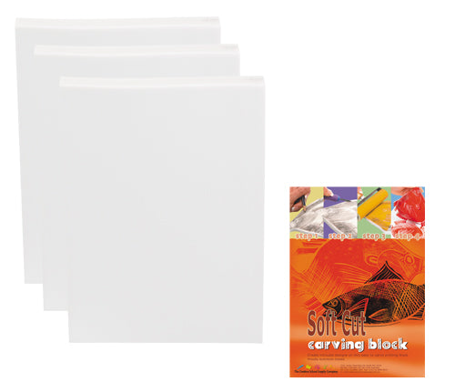 Soft Carving Blocks 14.5cm x 21cm Pack of 10 - LT141 - Collins Craft and School Supplies