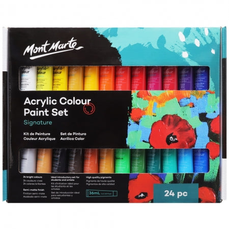 Acrylic Colour Paint Set 36ml Pack of 24