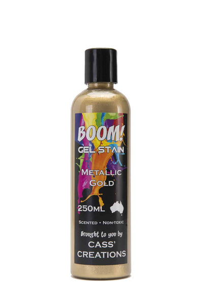 Boom Gel Stain 250ml Metallics - Collins Craft and School Supplies