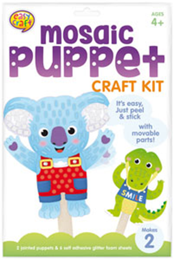 Mosiac Puppet Craft Kit Pack of 2