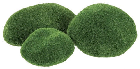 Mossy Poly Stones Pack of 8 - NP120 - Collins Craft and School Supplies