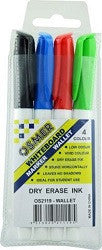 Whiteboard Fineline Markers Pack of 4 - Collins Craft and School Supplies