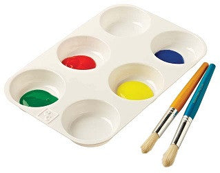 Paint Palette 6 Well No.8 - P8 - Collins Craft and School Supplies