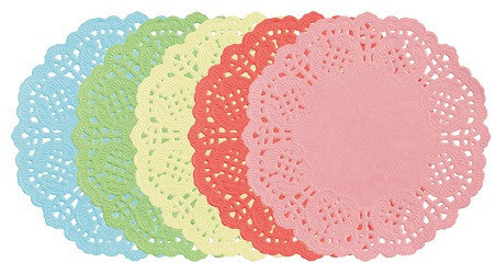 Doilies Coloured 16.5cm Pack of 100 - PA012 - Collins Craft and School Supplies