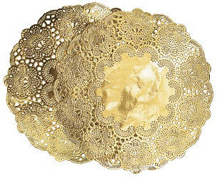 Doilies Metallic 19cm Pack of 50 - Collins Craft and School Supplies