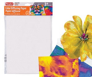 Color Diffusing Paper Pack of 50 - PA286 - Collins Craft and School Supplies