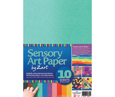 Sensory Art Paper Pack of 10 - PA871 - Collins Craft and School Supplies