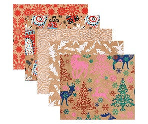 Christmas Kraft Paper Pack of 40 - PA889 - Collins Craft and School Supplies
