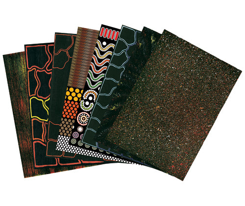 Pattern Paper Pack of 40 Indigenous Australia - PA910 - Collins Craft and School Supplies