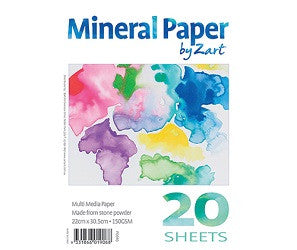 Mineral Multi Media Paper Pack of 20 - PD040 - Collins Craft and School Supplies