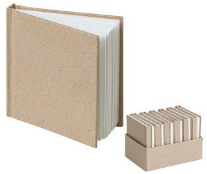 Kraft Mini Notebooks Pack of 12 - PD320 - Collins Craft and School Supplies
