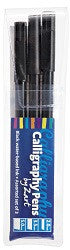 Calligraphy Pens Black Pack of 3 - PN030 - Collins Craft and School Supplies
