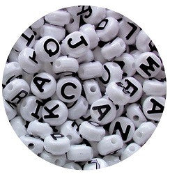 Alphabet Beads Pack of 350 - PBA350 - Collins Craft and School Supplies