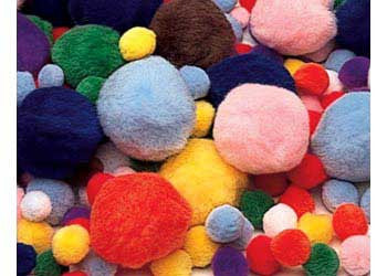 Pom Poms Assorted Colours & Sizes Pack of 300 - PPPA300 - Collins Craft and School Supplies