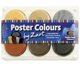 Poster Colours Paints Earth Tone 6 Colours - PT880-EP - Collins Craft and School Supplies