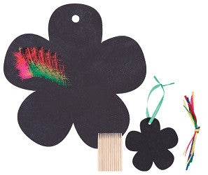 Scratch - Art Flowers Pack of 12 - SA004 - Collins Craft and School Supplies
