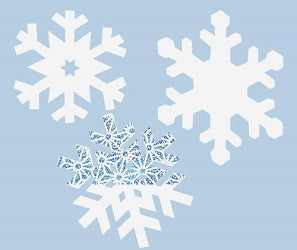 Scratch Snowflakes Pack of 30 - SA005 - Collins Craft and School Supplies