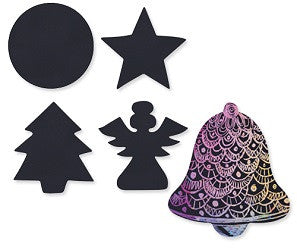 Scratch Christmas Shapes Pack of 30 - SA010 - Collins Craft and School Supplies