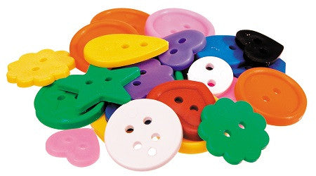 Bright Assorted Buttons Pack of 450g - SM002 - Collins Craft and School Supplies