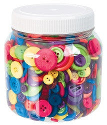 Buttons Bulk Pack of 600g - Collins Craft and School Supplies